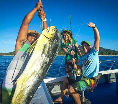 Fishing off Rarotonga